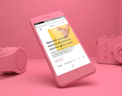 Nail Art Website Concept