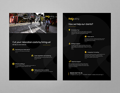 Relocating brochure flyer PRINT design