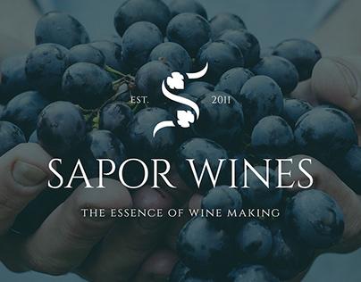 Sapor Wines Branding Identity