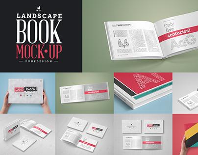 Landscape Book Mock-Up Set