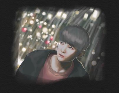 Korean boy sketch.