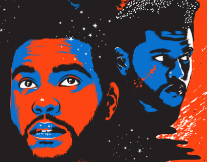 The Weeknd / Starboy illustration for Rolling Stone