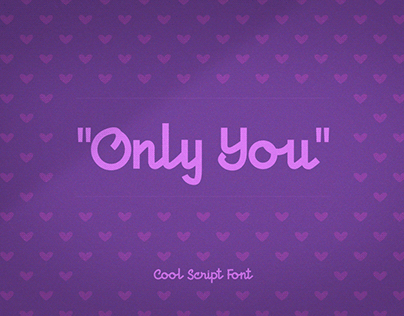 Only You Free Font