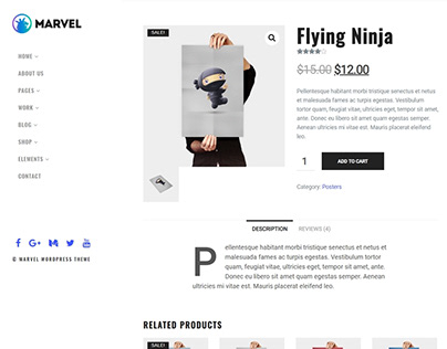 Shop Products Page - Marvel WordPress Theme