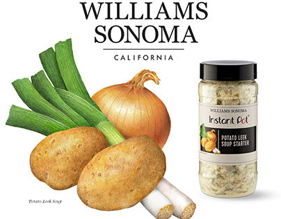 Packaging Ingredient Illustrations for Williams Sonoma