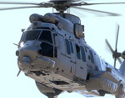 Ec725 Caracal | 3D Model | Unity3D | AssetStore