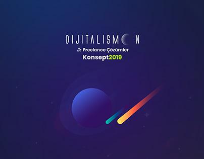 Dijitalismoon Social Media Packs. Creative Concept