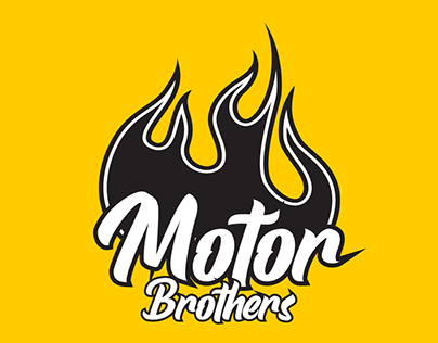 MOTOR BROTHERS   Logo Composition
