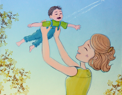 Illustrations on becoming a mother