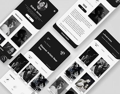 Discover Artists - Mobile app UI/ UX Design