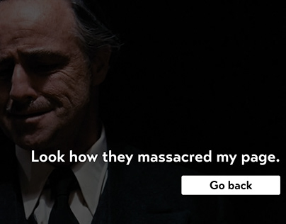 404 Web Page Error - Godfather