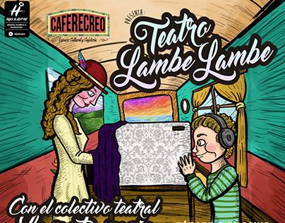 AFICHE TEATRO LAMBE LAMBE / Café Recreo