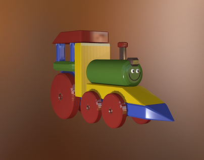 "3D, ""Smiling train"" toy"