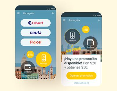 UI/UX for Recarguita Android App