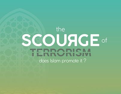 Scourge of Terrorism Book Cover Design