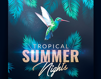 Tropical Summer Flyer Template