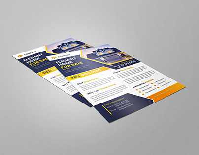 Home For sale flyer design template