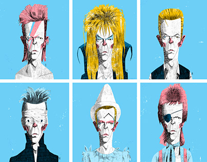 David Bowie Portrait Series