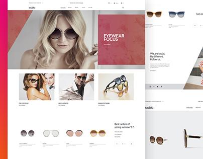 Cubic. Sunglasses store design
