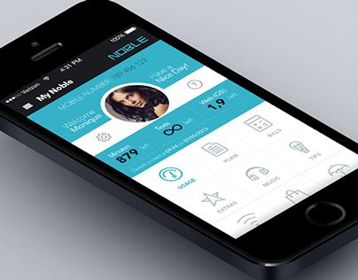 Noble - mobile application design