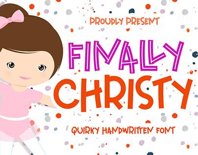 Finally Christy - Playful Font