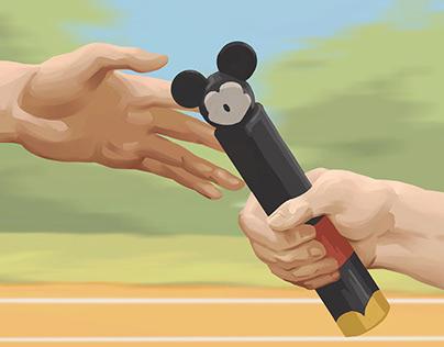 Editorial Illustration: Disney's Change of leadership