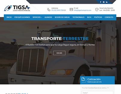 Página Web tigsatransports.com