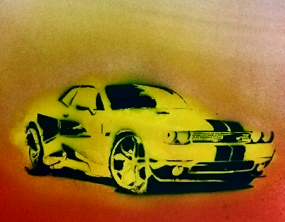 Stencil and Spray Paint