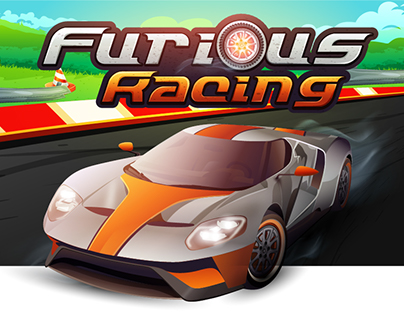 Furious Racing (HTML Game Design)
