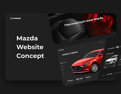 Mazda Website Concept