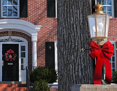 McCallister Home Alone house winter render Corona snow