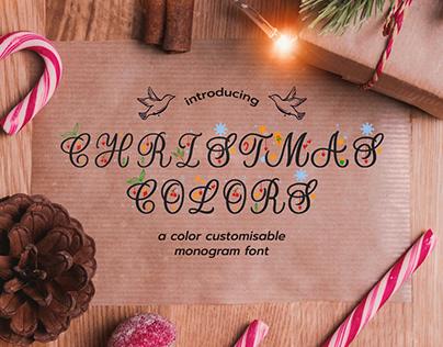 Christmas Colors Monogram Font