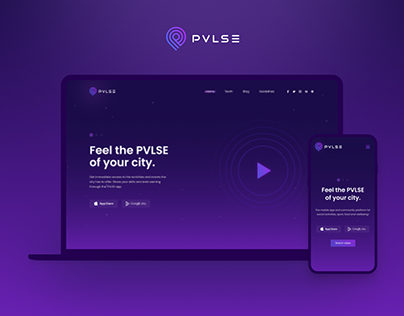 PVLSE • LANDING • WEB • DESIGN • UI/UX • LANP