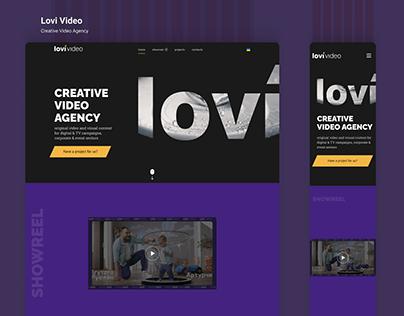 Web site for Lovi Video