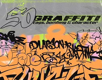 50 Graffiti - tags bombing & character