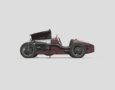 Amilcar C6 low poly