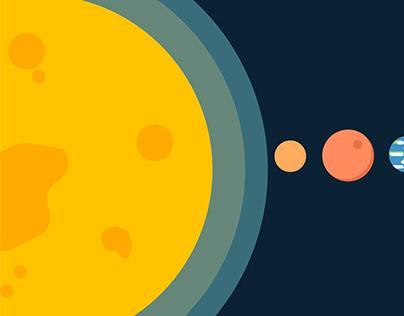 Solar System - Flat Illustration