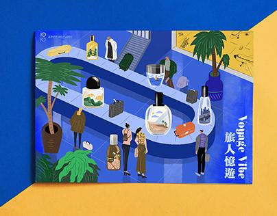 10/10 apothecary 旅人憶遊插畫