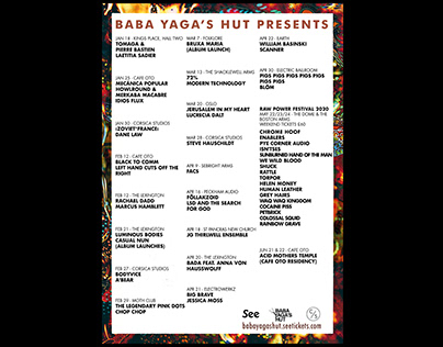 Baba Yaga's Hut Listings Poster