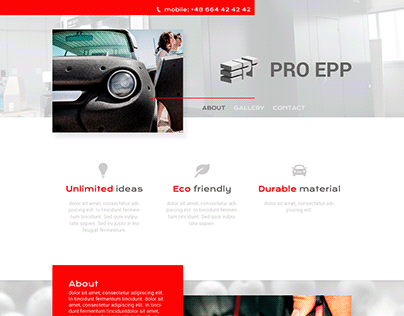 Project of landing page for PRO EPP