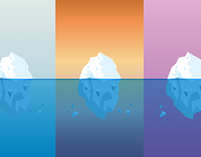 Icebergs Vector Drawing