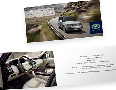 Invitation Range Rover