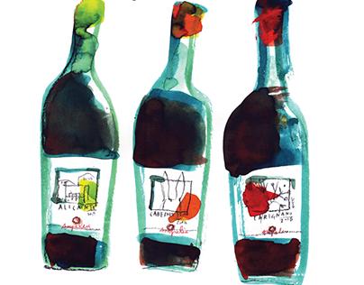 Illustrations & wine labels / AMPELEIA