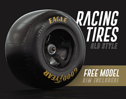 Racing Tires - 3D Free Model (RIM INCLUDED)