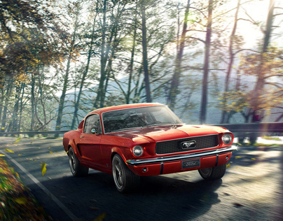 Ford Mustang 1967 - CGI & Retouching