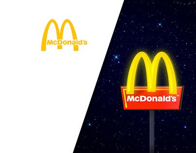 McDonald's 24h/24 Print Idea