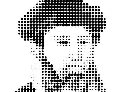 Halftone of Gutenberg