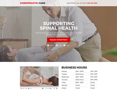 Best chiropractic care lead funnel landing page designs