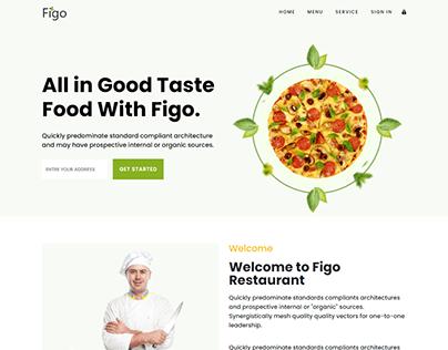 Figo - Restuarant HTML5 responsive Landing Page