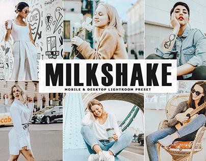 Free Milkshake Mobile & Desktop Lightroom Preset